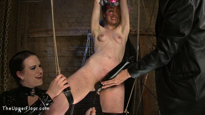Photo number 7 from The Destruction of Sister shot for The Upper Floor on Kink.com. Featuring Lilac Wine and Sophie Monroe in hardcore BDSM & Fetish porn.