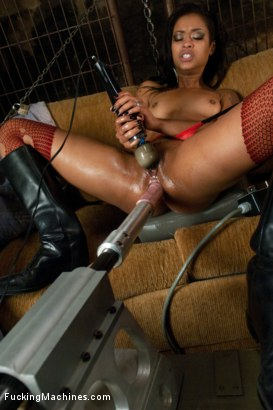 Photo number 12 from The End of the World: Machine Fucking Apocolypse shot for Fucking Machines on Kink.com. Featuring Skin Diamond and Asphyxia Noir in hardcore BDSM & Fetish porn.