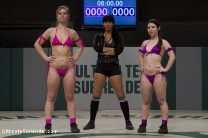 Photo number 1 from Amazing back & forth action between 2 sexy combatants<br>Sexiest nonscripted wrestling on the planet shot for Ultimate Surrender on Kink.com. Featuring Tara Lynn Foxx and Serena Blair in hardcore BDSM & Fetish porn.