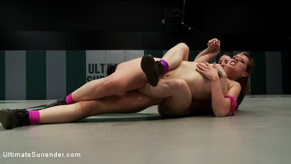 Photo number 14 from Amazing back & forth action between 2 sexy combatants<br>Sexiest nonscripted wrestling on the planet shot for Ultimate Surrender on Kink.com. Featuring Tara Lynn Foxx and Serena Blair in hardcore BDSM & Fetish porn.