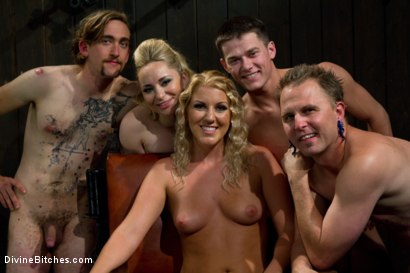 Photo number 8 from New Slave Meat Competition LIVE! shot for Divine Bitches on Kink.com. Featuring Aiden Starr, Skyeboy, Ashley Edmonds, Dean Morrato and Chip Tanner in hardcore BDSM & Fetish porn.