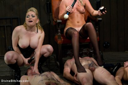 Photo number 9 from New Slave Meat Competition LIVE! shot for Divine Bitches on Kink.com. Featuring Aiden Starr, Skyeboy, Ashley Edmonds, Dean Morrato and Chip Tanner in hardcore BDSM & Fetish porn.