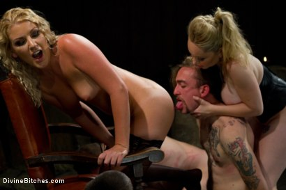 Photo number 11 from New Slave Meat Competition LIVE! shot for Divine Bitches on Kink.com. Featuring Aiden Starr, Skyeboy, Ashley Edmonds, Dean Morrato and Chip Tanner in hardcore BDSM & Fetish porn.