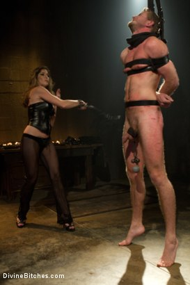 Photo number 12 from Pleasure Slave In The Making: Episode 1 shot for Divine Bitches on Kink.com. Featuring Felony and Drake Temple in hardcore BDSM & Fetish porn.