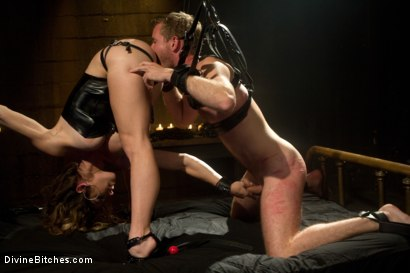 Photo number 3 from Pleasure Slave In The Making: Episode 1 shot for Divine Bitches on Kink.com. Featuring Felony and Drake Temple in hardcore BDSM & Fetish porn.