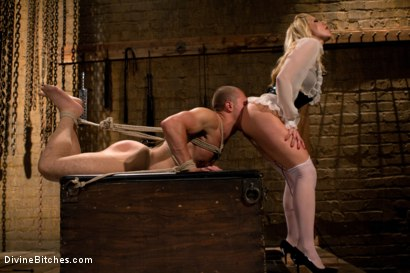 Photo number 4 from For The Love Of Hose: Pantyhose Fetish shot for Divine Bitches on Kink.com. Featuring Roman Rivers and Ashley Fires in hardcore BDSM & Fetish porn.