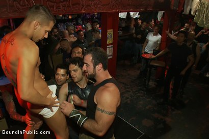 Photo number 1 from Horny men attack a go-go boy at the Powerhouse bar  shot for Bound in Public on Kink.com. Featuring Spencer Reed and Shane Frost in hardcore BDSM & Fetish porn.