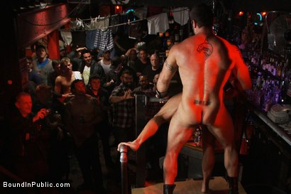 Photo number 9 from Horny men attack a go-go boy at the Powerhouse bar  shot for Bound in Public on Kink.com. Featuring Spencer Reed and Shane Frost in hardcore BDSM & Fetish porn.