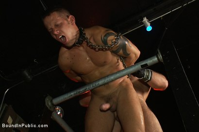 Photo number 8 from Horny men attack a go-go boy at the Powerhouse bar  shot for Bound in Public on Kink.com. Featuring Spencer Reed and Shane Frost in hardcore BDSM & Fetish porn.