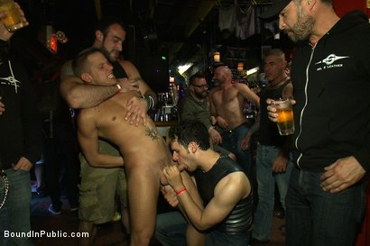 Photo number 2 from Horny men attack a go-go boy at the Powerhouse bar  shot for Bound in Public on Kink.com. Featuring Spencer Reed and Shane Frost in hardcore BDSM & Fetish porn.