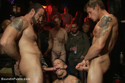 Horny men attack a go-go boy at the Powerhouse bar