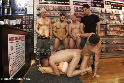 Photo number 13 from Innocent man is taken into a porn shop and turned into a sex slave. shot for Bound in Public on Kink.com. Featuring Tristan Jaxx, Kyle Braun and Royce in hardcore BDSM & Fetish porn.