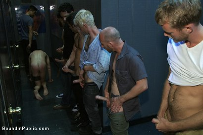 Photo number 6 from Innocent man is taken into a porn shop and turned into a sex slave. shot for Bound in Public on Kink.com. Featuring Tristan Jaxx, Kyle Braun and Royce in hardcore BDSM & Fetish porn.