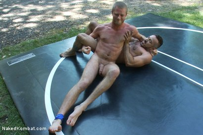 Photo number 6 from Alessio Romero vs Drake Temple at Naughty Pines Campgrounds shot for Naked Kombat on Kink.com. Featuring Alessio Romero and Drake Temple in hardcore BDSM & Fetish porn.