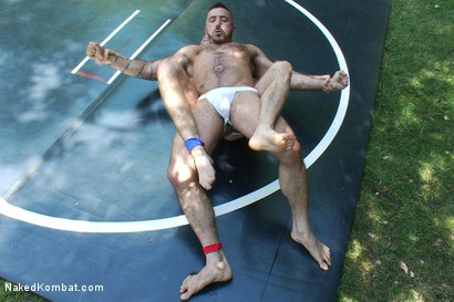 Photo number 3 from Alessio Romero vs Drake Temple at Naughty Pines Campgrounds shot for Naked Kombat on Kink.com. Featuring Alessio Romero and Drake Temple in hardcore BDSM & Fetish porn.