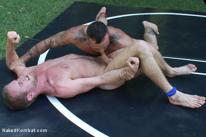 Photo number 9 from Alessio Romero vs Drake Temple at Naughty Pines Campgrounds shot for Naked Kombat on Kink.com. Featuring Alessio Romero and Drake Temple in hardcore BDSM & Fetish porn.