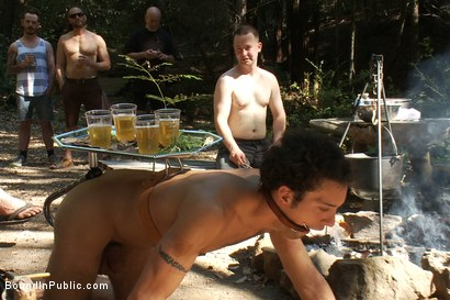 Photo number 6 from Use and Abuse a Camp Whore shot for Bound in Public on Kink.com. Featuring Josh West and DJ in hardcore BDSM & Fetish porn.