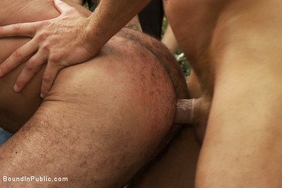 Photo number 14 from Horny men jump on a beefy jock and turn him into a sex slave at a campground. shot for Bound in Public on Kink.com. Featuring Alessio Romero and Brenn Wyson in hardcore BDSM & Fetish porn.