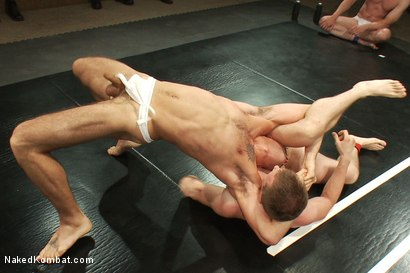 Photo number 3 from Cameron Adams and Phenix Saint vs Blake Daniels and DJ <br> Live Audience Tag Team Match shot for Naked Kombat on Kink.com. Featuring DJ, Cameron Adams, Phenix Saint, Troy Daniels and Blake Daniels in hardcore BDSM & Fetish porn.