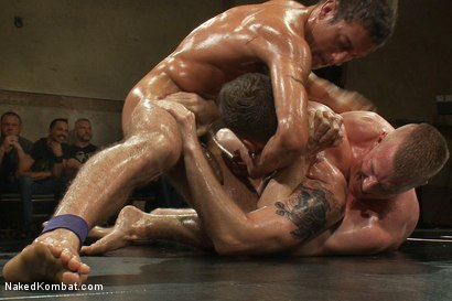 Photo number 9 from Cameron Adams and Phenix Saint vs Blake Daniels and DJ <br> Live Audience Tag Team Match shot for Naked Kombat on Kink.com. Featuring DJ, Cameron Adams, Phenix Saint, Troy Daniels and Blake Daniels in hardcore BDSM & Fetish porn.
