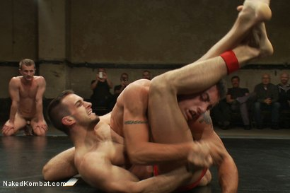 Photo number 6 from Cameron Adams and Phenix Saint vs Blake Daniels and DJ <br> Live Audience Tag Team Match shot for Naked Kombat on Kink.com. Featuring DJ, Cameron Adams, Phenix Saint, Troy Daniels and Blake Daniels in hardcore BDSM & Fetish porn.