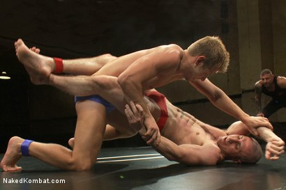 Photo number 2 from Roman Rivers vs Mike Rivers shot for Naked Kombat on Kink.com. Featuring Roman Rivers and Mike Rivers in hardcore BDSM & Fetish porn.