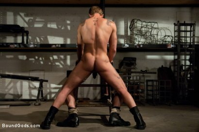 Photo number 6 from Phenix Saint gets his ass violated for the first time on Bound Gods. shot for Bound Gods on Kink.com. Featuring Trent Diesel and Phenix Saint in hardcore BDSM & Fetish porn.