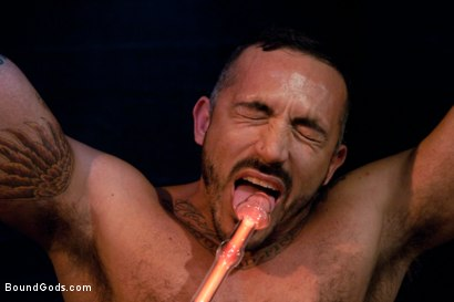 Photo number 5 from Damien Stone shot for Bound Gods on Kink.com. Featuring Alessio Romero and Damien Stone in hardcore BDSM & Fetish porn.