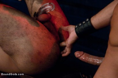 Photo number 4 from Damien Stone shot for Bound Gods on Kink.com. Featuring Alessio Romero and Damien Stone in hardcore BDSM & Fetish porn.