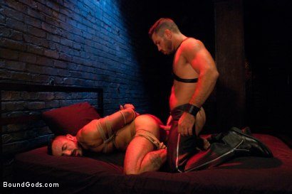 Photo number 10 from Damien Stone shot for Bound Gods on Kink.com. Featuring Alessio Romero and Damien Stone in hardcore BDSM & Fetish porn.