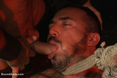 Photo number 3 from Damien Stone shot for Bound Gods on Kink.com. Featuring Alessio Romero and Damien Stone in hardcore BDSM & Fetish porn.