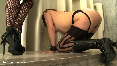 Photo number 4 from Service Day: Toilet Duty shot for The Upper Floor on Kink.com. Featuring Nerine Mechanique, Lilla Katt and Sophie Monroe in hardcore BDSM & Fetish porn.