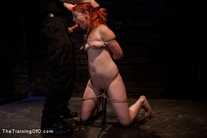 Photo number 12 from Sloane Soleil Day 3<br>Extreme Endurance Test with a Cock Sucking Reward shot for The Training Of O on Kink.com. Featuring Sloane Soleil and Maestro in hardcore BDSM & Fetish porn.