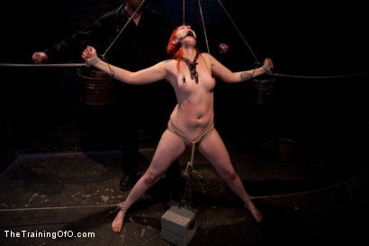 Photo number 8 from Sloane Soleil Day 3<br>Extreme Endurance Test with a Cock Sucking Reward shot for The Training Of O on Kink.com. Featuring Sloane Soleil and Maestro in hardcore BDSM & Fetish porn.