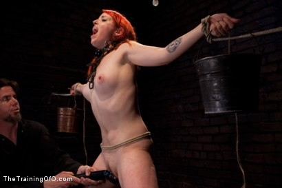 Photo number 9 from Sloane Soleil Day 3<br>Extreme Endurance Test with a Cock Sucking Reward shot for The Training Of O on Kink.com. Featuring Sloane Soleil and Maestro in hardcore BDSM & Fetish porn.