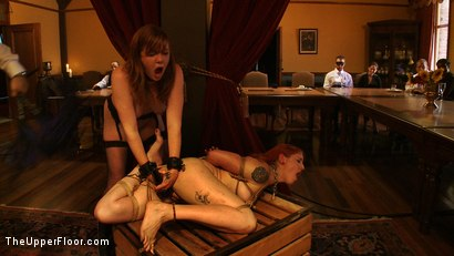 Photo number 23 from Stefanos' Brunch shot for The Upper Floor on Kink.com. Featuring Nerine Mechanique, Maestro Stefanos and Lilla Katt in hardcore BDSM & Fetish porn.