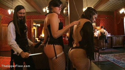 Photo number 7 from Stefanos' Brunch shot for The Upper Floor on Kink.com. Featuring Nerine Mechanique, Maestro Stefanos and Lilla Katt in hardcore BDSM & Fetish porn.