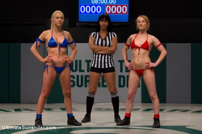Photo number 2 from 10th vs 9th:<br>Big titted Samantha takes on the tiny Jesse Cox, both former collegiate gymnasts.  shot for Ultimate Surrender on Kink.com. Featuring Jessie Cox and Samantha Sin in hardcore BDSM & Fetish porn.