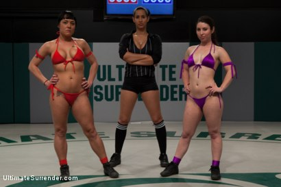 Photo number 1 from 12th vs 11th: 2 feisty rookies battle to see who moves forward<br>The loser is brutally humilated shot for Ultimate Surrender on Kink.com. Featuring Mahina Zaltana and Serena Blair in hardcore BDSM & Fetish porn.