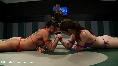 Photo number 11 from 12th vs 11th: 2 feisty rookies battle to see who moves forward<br>The loser is brutally humilated shot for Ultimate Surrender on Kink.com. Featuring Mahina Zaltana and Serena Blair in hardcore BDSM & Fetish porn.