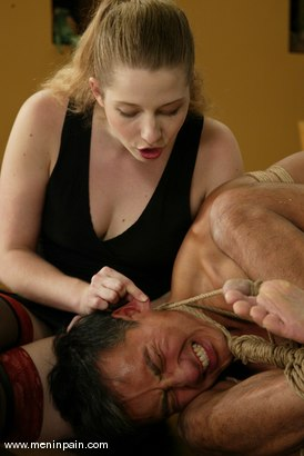 Photo number 4 from Princess Kali and Reggie Yee shot for Men In Pain on Kink.com. Featuring Princess Kali and Reggie Yee in hardcore BDSM & Fetish porn.