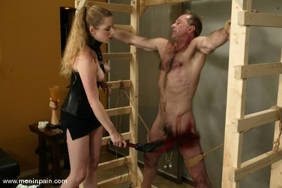 Photo number 14 from Billy Budd and Princess Kali shot for Men In Pain on Kink.com. Featuring Billy Budd and Princess Kali in hardcore BDSM & Fetish porn.
