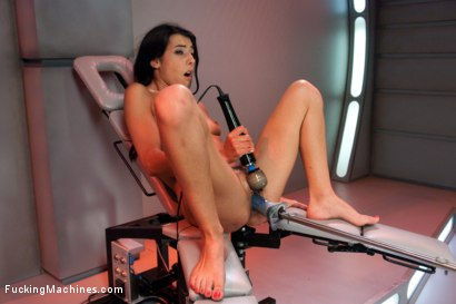 Photo number 14 from Parlez Vous Machine? Mais OUI! <br> Fucking a French Girl shot for Fucking Machines on Kink.com. Featuring Lou Charmelle in hardcore BDSM & Fetish porn.