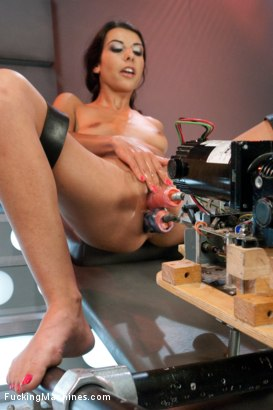 Photo number 5 from Parlez Vous Machine? Mais OUI! <br> Fucking a French Girl shot for Fucking Machines on Kink.com. Featuring Lou Charmelle in hardcore BDSM & Fetish porn.