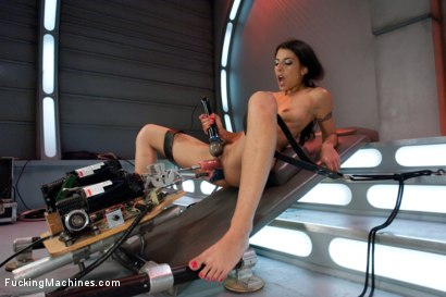 Photo number 4 from Parlez Vous Machine? Mais OUI! <br> Fucking a French Girl shot for Fucking Machines on Kink.com. Featuring Lou Charmelle in hardcore BDSM & Fetish porn.