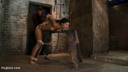 Photo number 7 from Skin's a sweaty mess, we rip massive orgasms from her quivering body.<br>Brutal bondage, perfect ass shot for Hogtied on Kink.com. Featuring Skin Diamond in hardcore BDSM & Fetish porn.