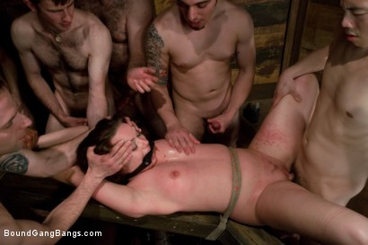 Photo number 13 from Public Gangbang 2 shot for Bound Gang Bangs on Kink.com. Featuring Princess Donna Dolore and Devaun in hardcore BDSM & Fetish porn.