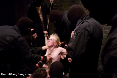 Photo number 14 from Public Gangbang 3 shot for Bound Gang Bangs on Kink.com. Featuring Sarah Jane Ceylon in hardcore BDSM & Fetish porn.