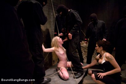 Photo number 5 from Public Gangbang 3 shot for Bound Gang Bangs on Kink.com. Featuring Sarah Jane Ceylon in hardcore BDSM & Fetish porn.