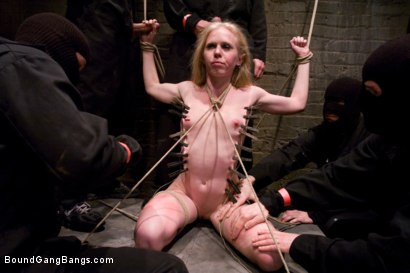 Photo number 7 from Public Gangbang 3 shot for Bound Gang Bangs on Kink.com. Featuring Sarah Jane Ceylon in hardcore BDSM & Fetish porn.